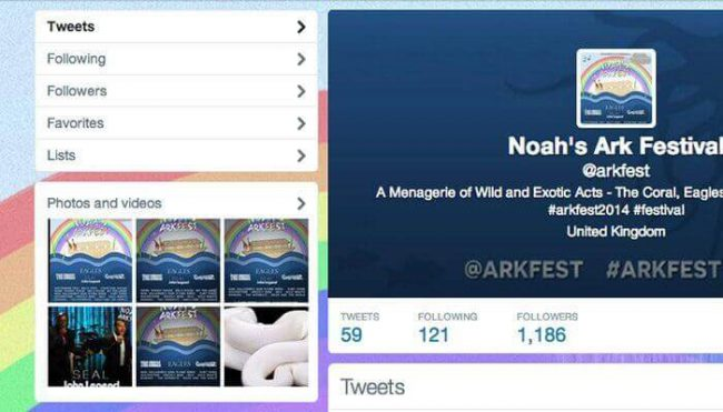 Noah's Ark Festival Twitter hoax