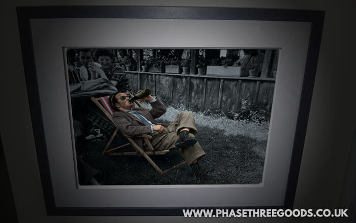 Colourised family photograph as a framed gift