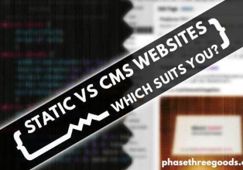 static vs cms websites