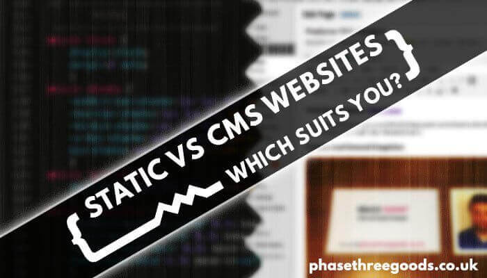 static vs cms websites