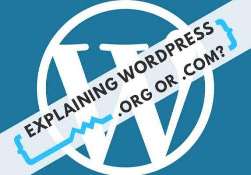 wordpress .org or .dom?