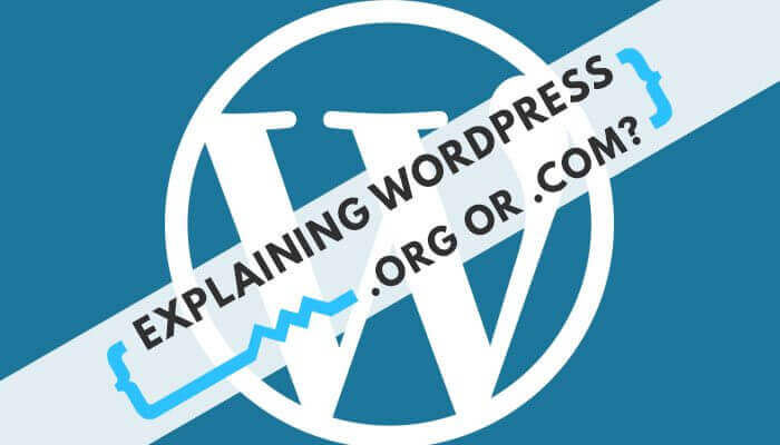 wordpress .org or .dom?