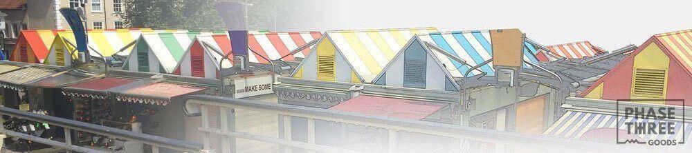 Norwich market in watercolour effect