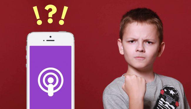 iPhone Podcast App Design