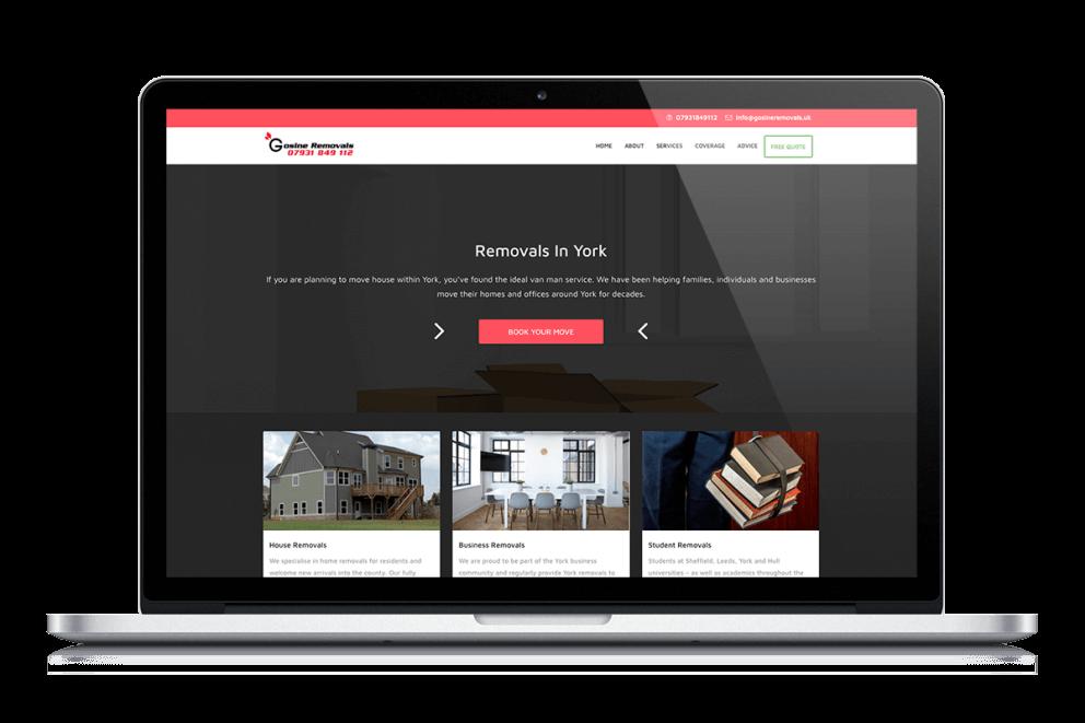 Gosine Removals Responsive Website
