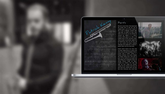 Pat Kenny Trombone: Website Design