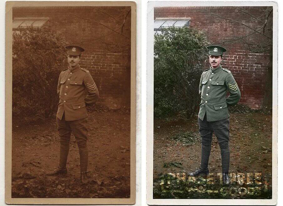 World War 1 Soldier Colourised