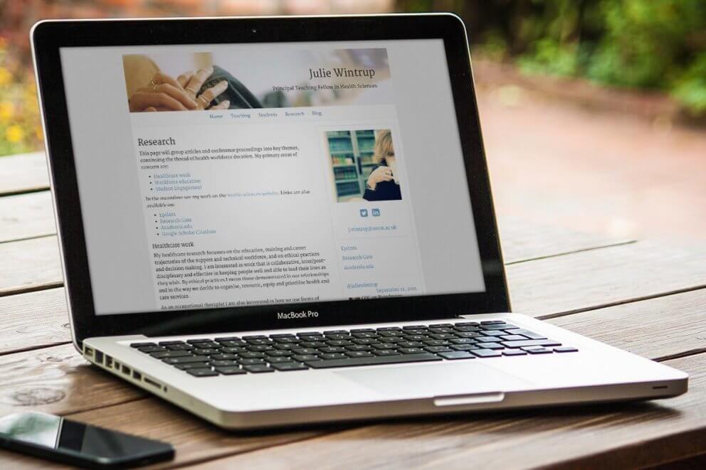 Julie Wintrup Academic Website