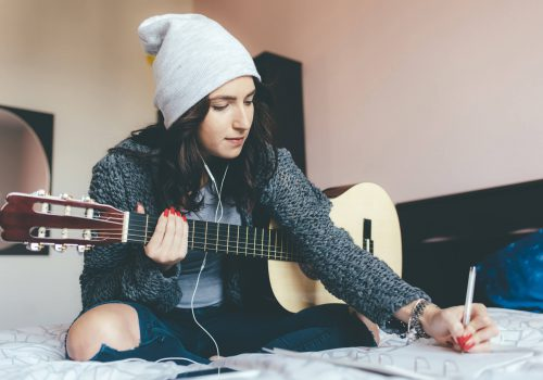 musician writing songs