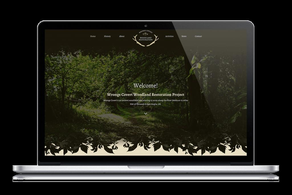Wrongs Covert Woodland Restoration website