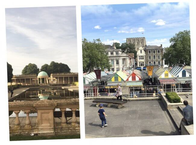 Norwich Market and Eaton Park